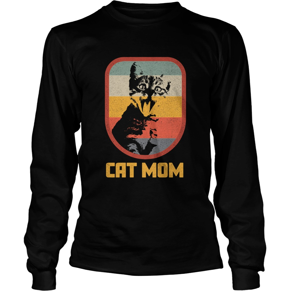 Cat Mom Vintage and Retro Design Cats  Long Sleeve