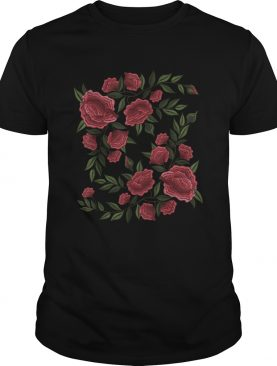 Faux Embroidery Rose Stitching Patch Style Flower shirt