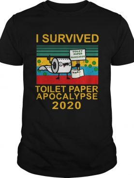 I Survived Toilet Paper Apocalypse Vitage shirt