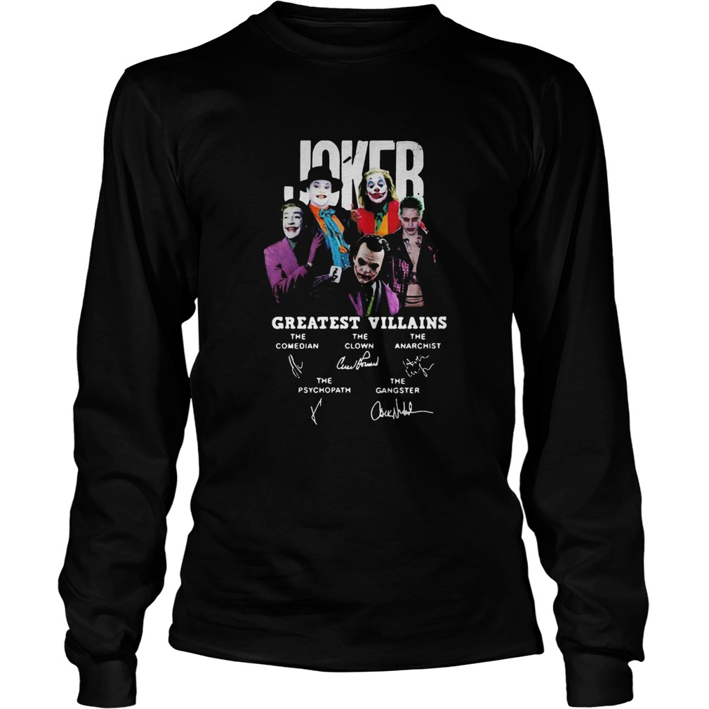 Joker greatest villains signatures  Long Sleeve