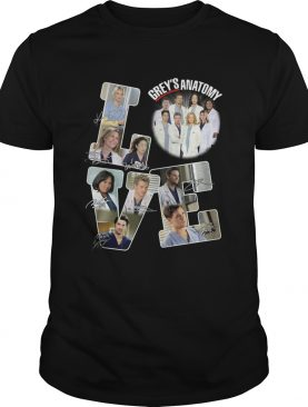 Love Greys Anatomy Signature shirt