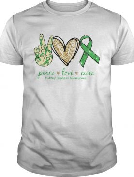Peace Love Cure Kidney Disease Awareness shirt