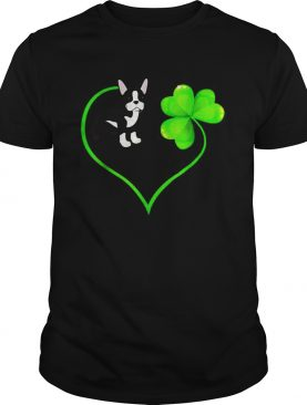 St Patricks Day Boston Terrier Dog Mom Dad Shamrock Kids shirt