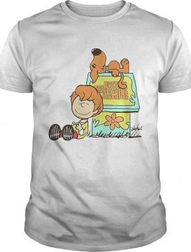The Mystery Machine Charlie Brown and Snoopy shirt
