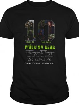 10 Years Of The Walking Dead 2010 2020 Anniversary shirt