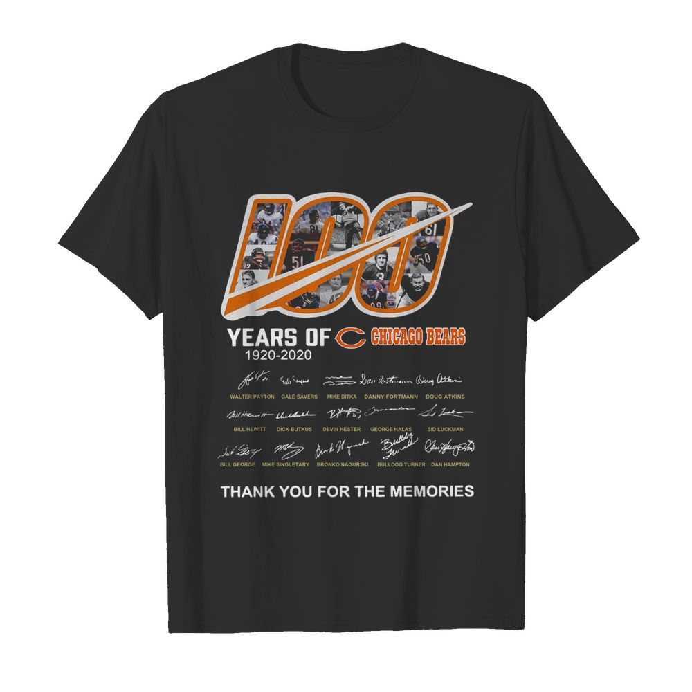 100 Years Of Chicago Bears Thank You For The Memories Signatures  Classic Men's T-shirt