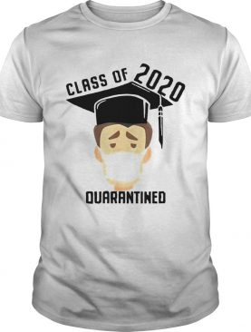 Class Of 2020 Quarantined Mask Graduating Senior Graduation shirt