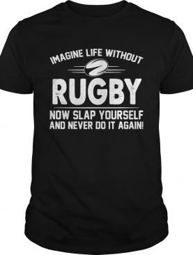 Imagine life without rugby now slap yourself and never do it again shirt