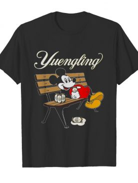 Mickey Mouse Drinking Yuengling Beer On Park Bench shirt