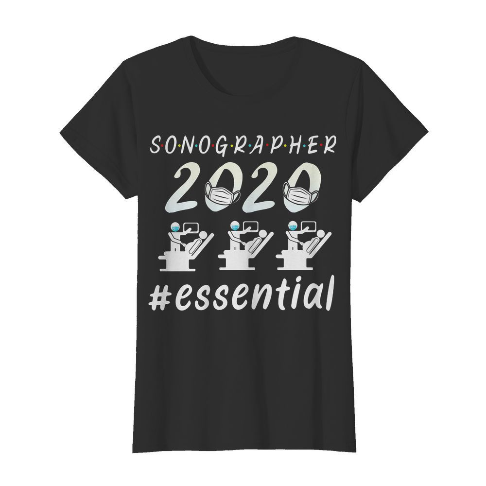 Sonographer 2020 mask essential  Classic Women's T-shirt