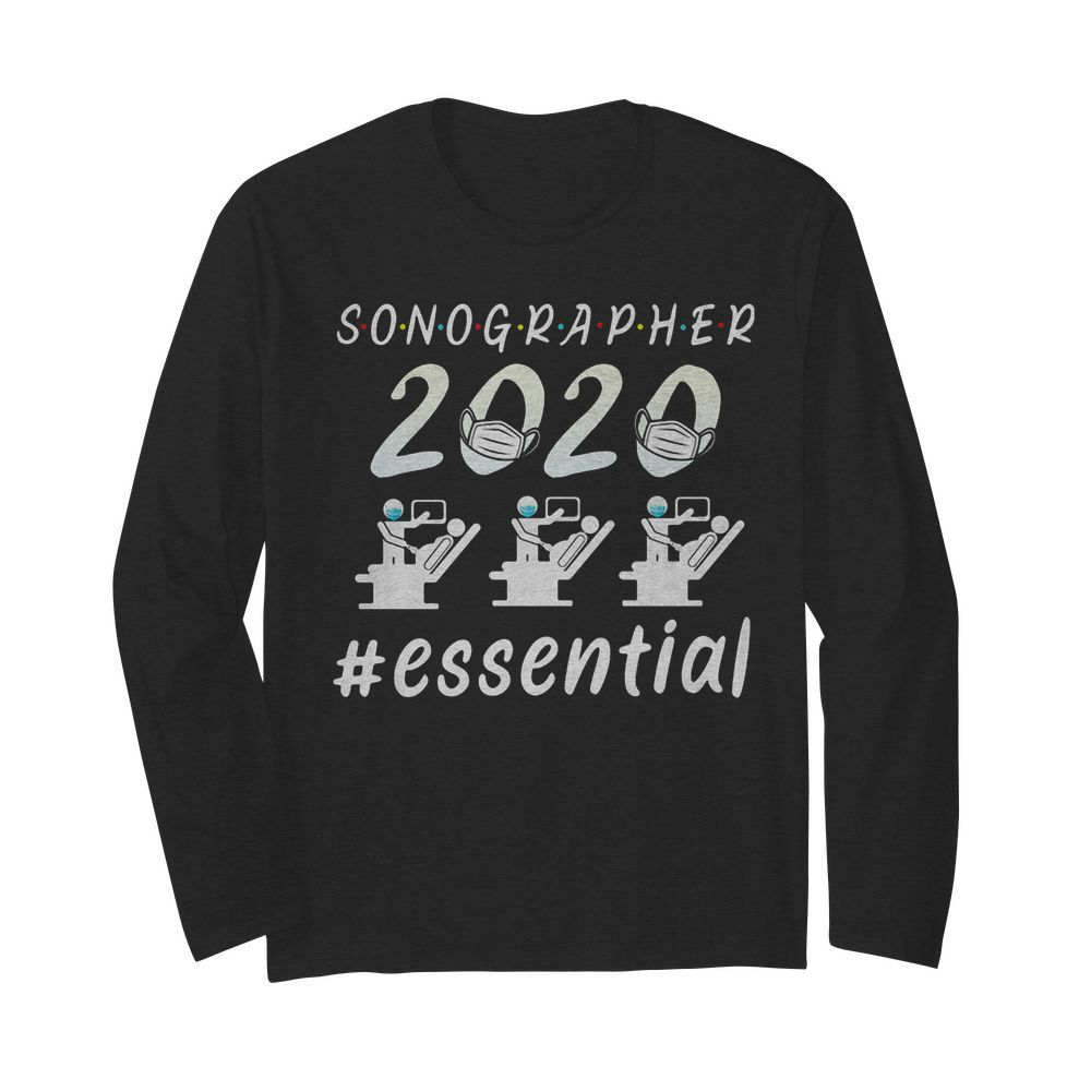 Sonographer 2020 mask essential  Long Sleeved T-shirt
