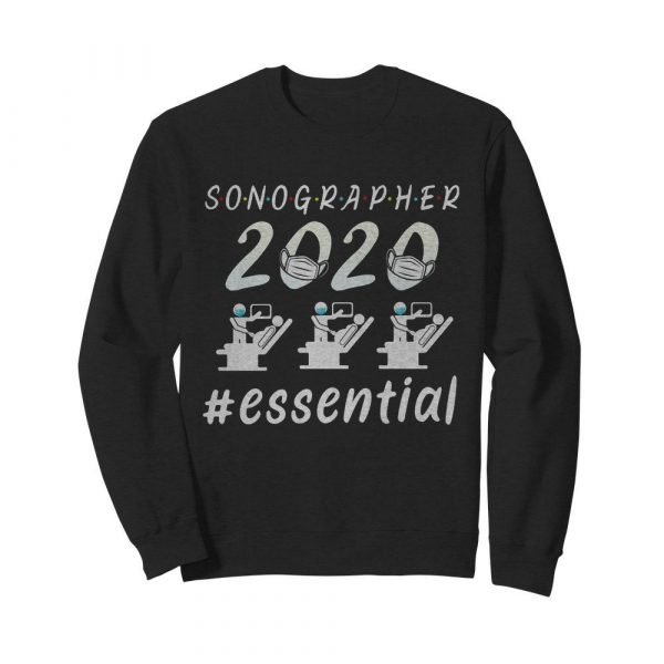 Sonographer 2020 mask essential  Unisex Sweatshirt