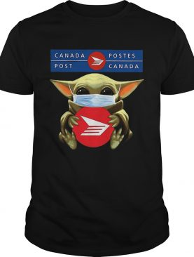 Star Wars Baby Yoda Mask Hug Canada Post COVID19 shirt