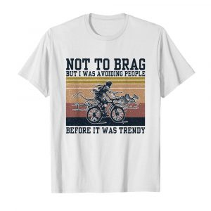 icycle not to brag but I was avoiding people before it was trendy vintage  Classic Men's T-shirt
