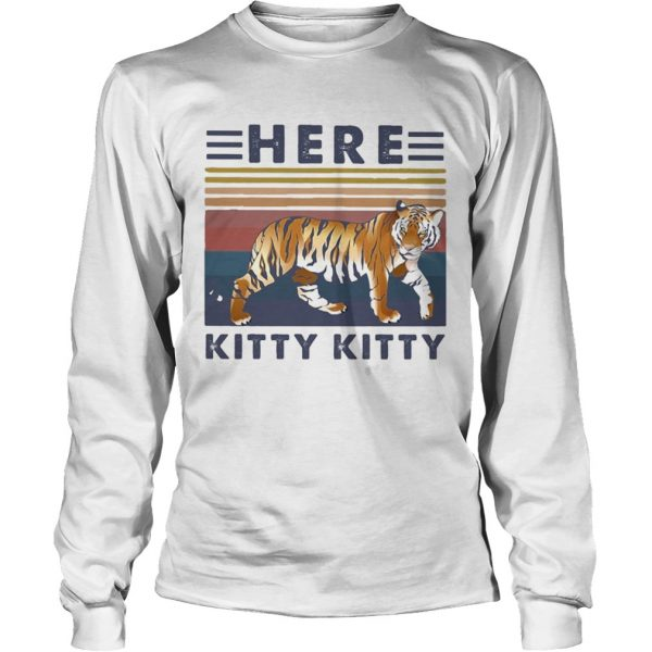 tiger here kitty kitty vintage  Long Sleeve