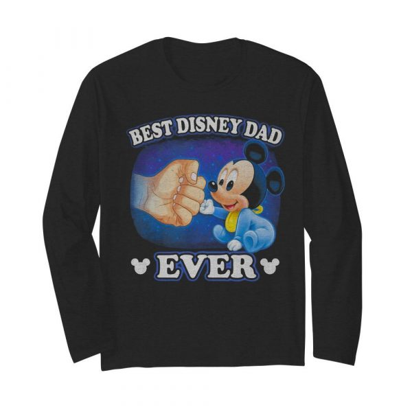 A Beautiful Cooler And Pretty Mickey Mouse Best Disney Dad Ever  Long Sleeved T-shirt