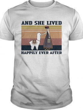 And she lives happily ever after vintage shirt