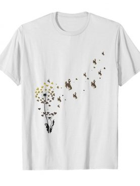Dandelion flower wyoming cowboys logo shirt