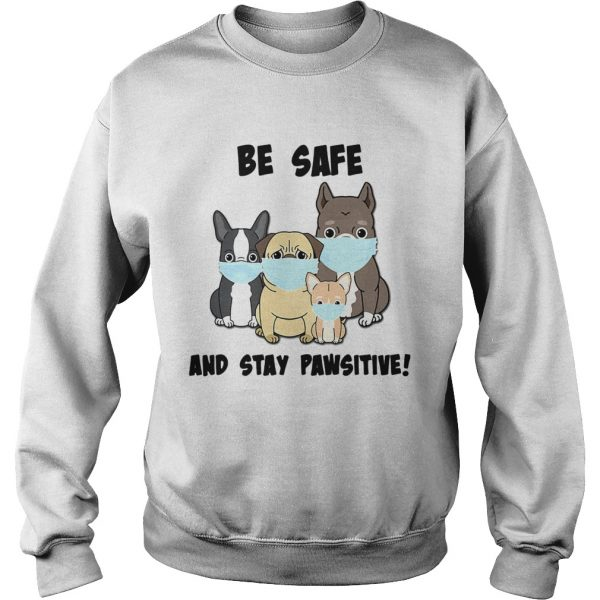 Dog Mask Be Safe And Stay Pawsitive  Sweatshirt