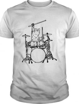 Drummer Cat Music Lover Musician Playing The Drums shirt