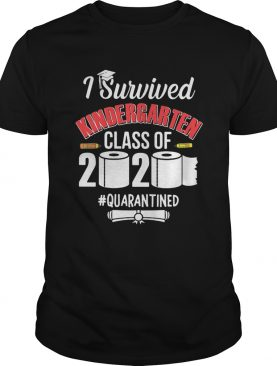 Graduate i survived kindergarten class of 2020 quarantined toilet paper pencil shirt