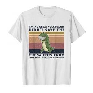 Having great vocabulary didn't save the thesaurus from mask vintage  Classic Men's T-shirt