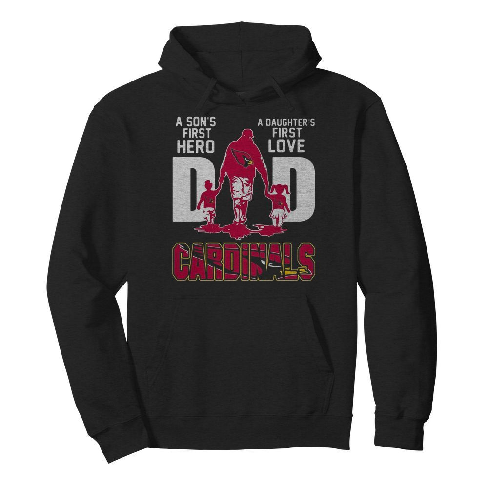 Louis Cardinals Dad a son's first Hero a Daughter's first love  Unisex Hoodie