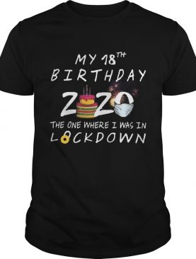 My 18th Birthday 2020 The One Where I Was In Lockdown shirt