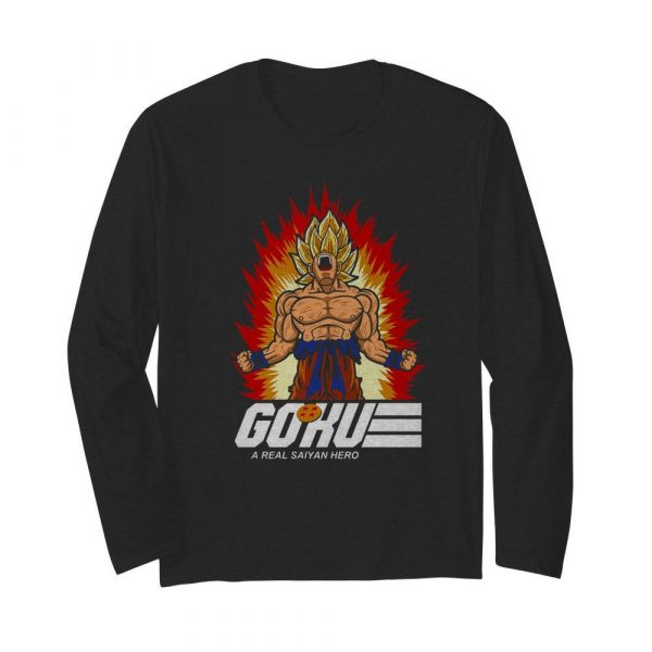 Nice Goku A Real Saiyan Hero  Long Sleeved T-shirt
