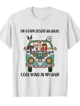 On a dark desert highway cool wind in my hair car hippie shirt