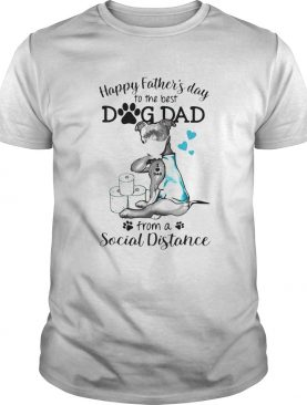 Pit Bull mask tattoo I love dad happy fathers day to the best dog dad from a social distance shirt