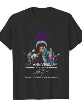 Prince 44th Anniversary 1976 2020 Thank You For The Memories Signature shirt