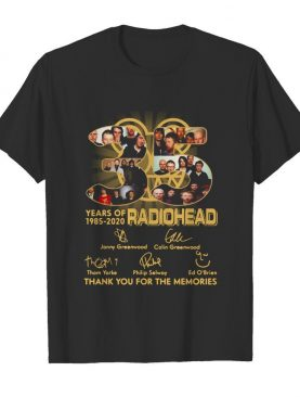 Radiohead English Rock Band 35th Years Of 1985-2020 Signature shirt