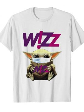 Star wars baby yoda hug wizz air mask covid-19 shirt