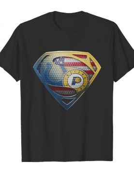 Superman boise state and indiana pacers american flag independence day shirt