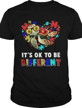 Turtle Autism Its Ok To Be Different shirt