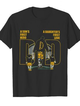 A son's first hero a daughter's first love dad green bay packers happy father's day shirt