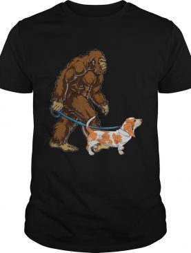 Bigfoot Sasquatch Walking Basset shirt