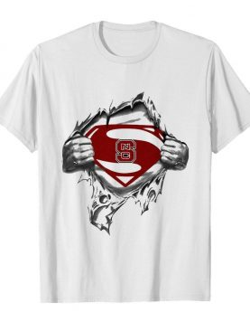Blood insides superman north carolina state shirt