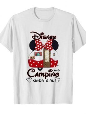 Disney minnie mouse and camping kinda girl shirt