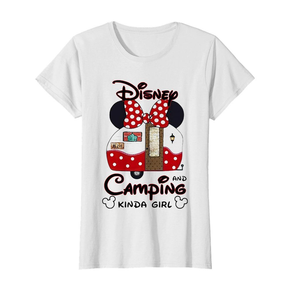Disney minnie mouse and camping kinda girl  Classic Women's T-shirt