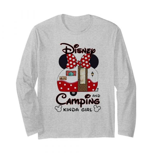 Disney minnie mouse and camping kinda girl  Long Sleeved T-shirt