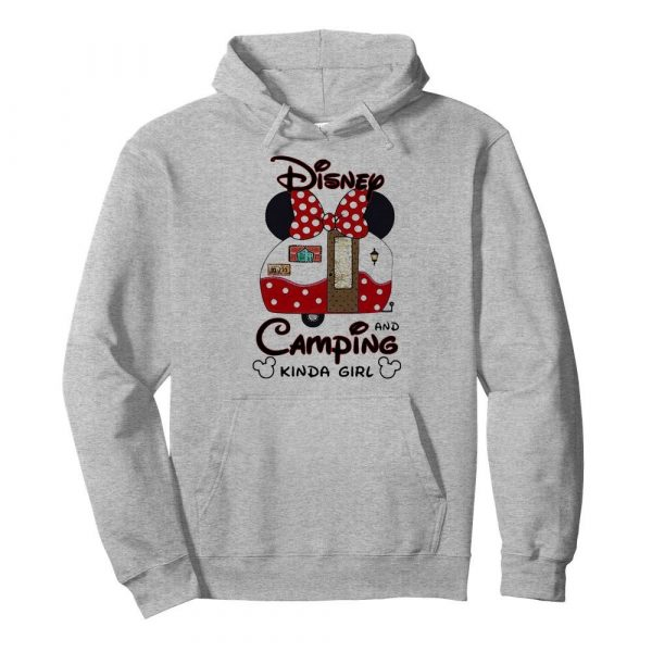 Disney minnie mouse and camping kinda girl  Unisex Hoodie