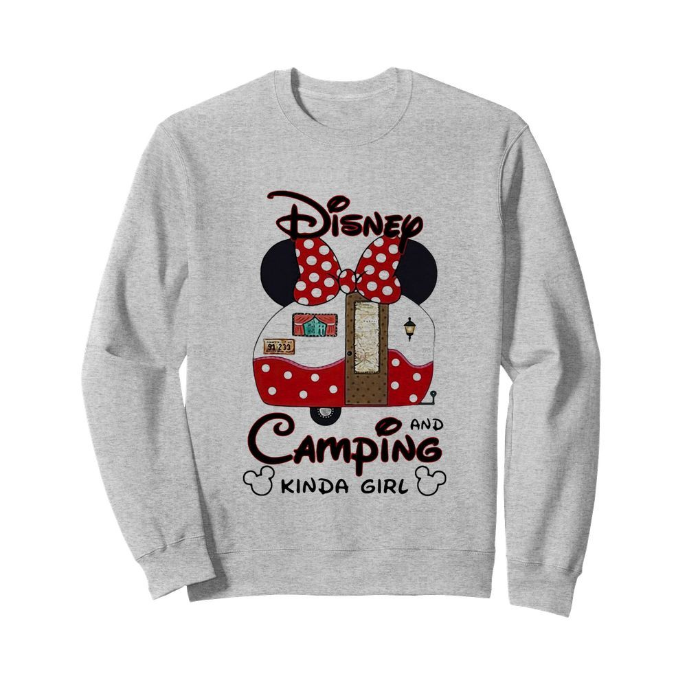 Disney minnie mouse and camping kinda girl  Unisex Sweatshirt