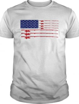 Fishing american flag independence day shirt