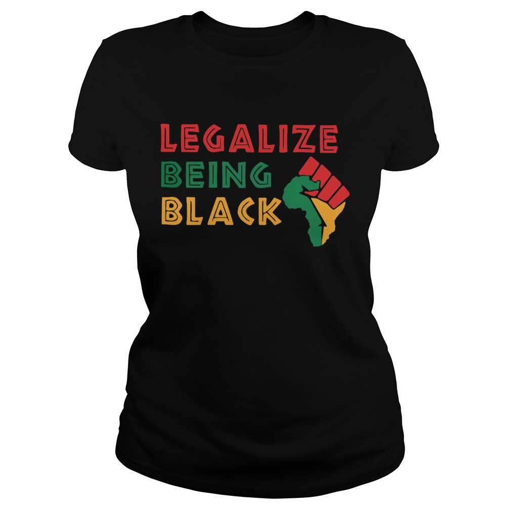 Fist Isolated Legalize Being Black  Classic Ladies