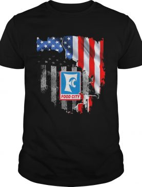 Food city american flag independence day shirt