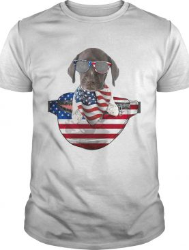 German shorthaired pointer waist pack flag american flag independence day shirt