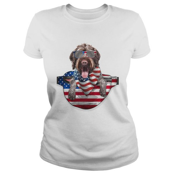 German wirehaired pointer waist pack american flag independence day  Classic Ladies