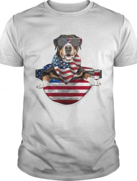 Greater swiss mountain waist pack american flag independence day shirt